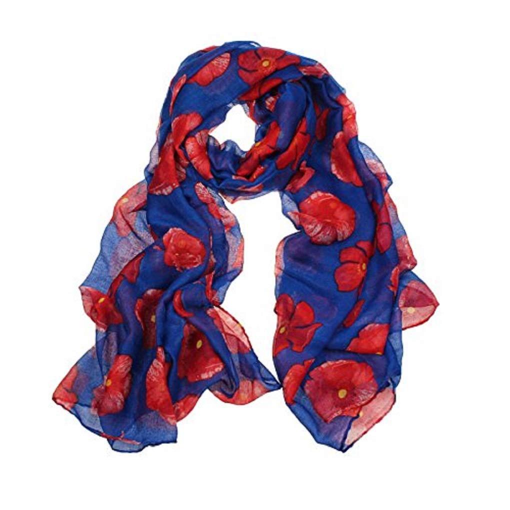 OYSOHE New Red Poppy Print Long Scarf Flower Beach Wrap Ladies Stole Shawl Neckerchiefs Pashminas Shawls Stoles