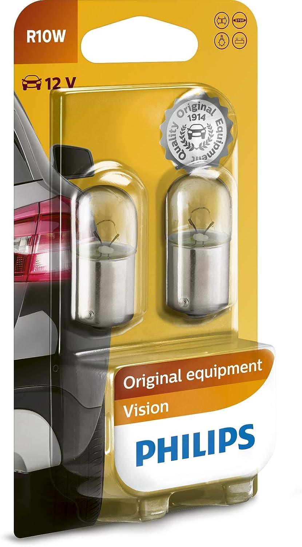 Philips 12814B2 Vision - Bombilla R10W para indicadores (2 unidades)