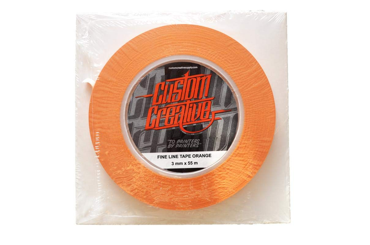 Colourfox Nastro vinile arancione perfilados misti Aerografia Custom 6mm Custom Creative