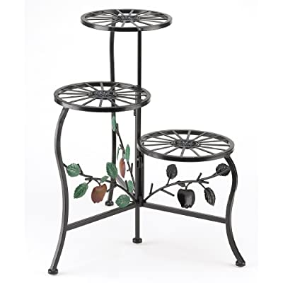 Gifts & Decor Country Apple Plant Stand Shelf Holds 3-Flower Pot : Garden & Outdoor