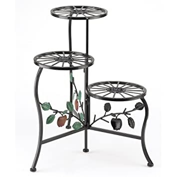 Gifts U0026 Decor Country Apple Plant Stand Shelf Holds 3 Flower Pot