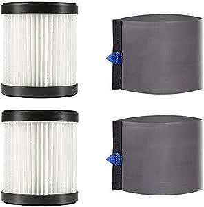 MOOSOO 2 filtros HEPA y 2 Fundas de Malla para aspiradora sin Cable X6 y X6 Nueva Actualización: Amazon.es: Hogar