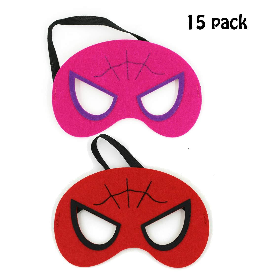 Diy House 15pack Spider Man Superhero Masks For Children Kids Party Superhero Party Mask For Children Superhero Cosplay Party Eye Masks For Children