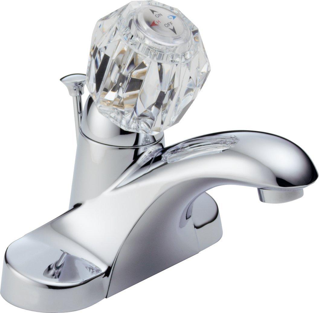 Delta Foundations B512LF Single Handle Centerset Bathroom Faucet, Chrome