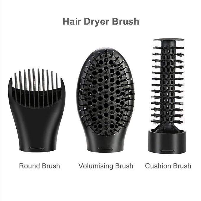 Cepillo de pelo de aire caliente 3 en 1 negativo giratorio de iones y alisador de cerámica para cabello ondulado/recto con ajuste de frescura ajustable para ...