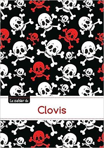 Télécharger en ligne Le carnet de Clovis - Petits carreaux, 96p, A5 - Têtes de mort pdf, epub