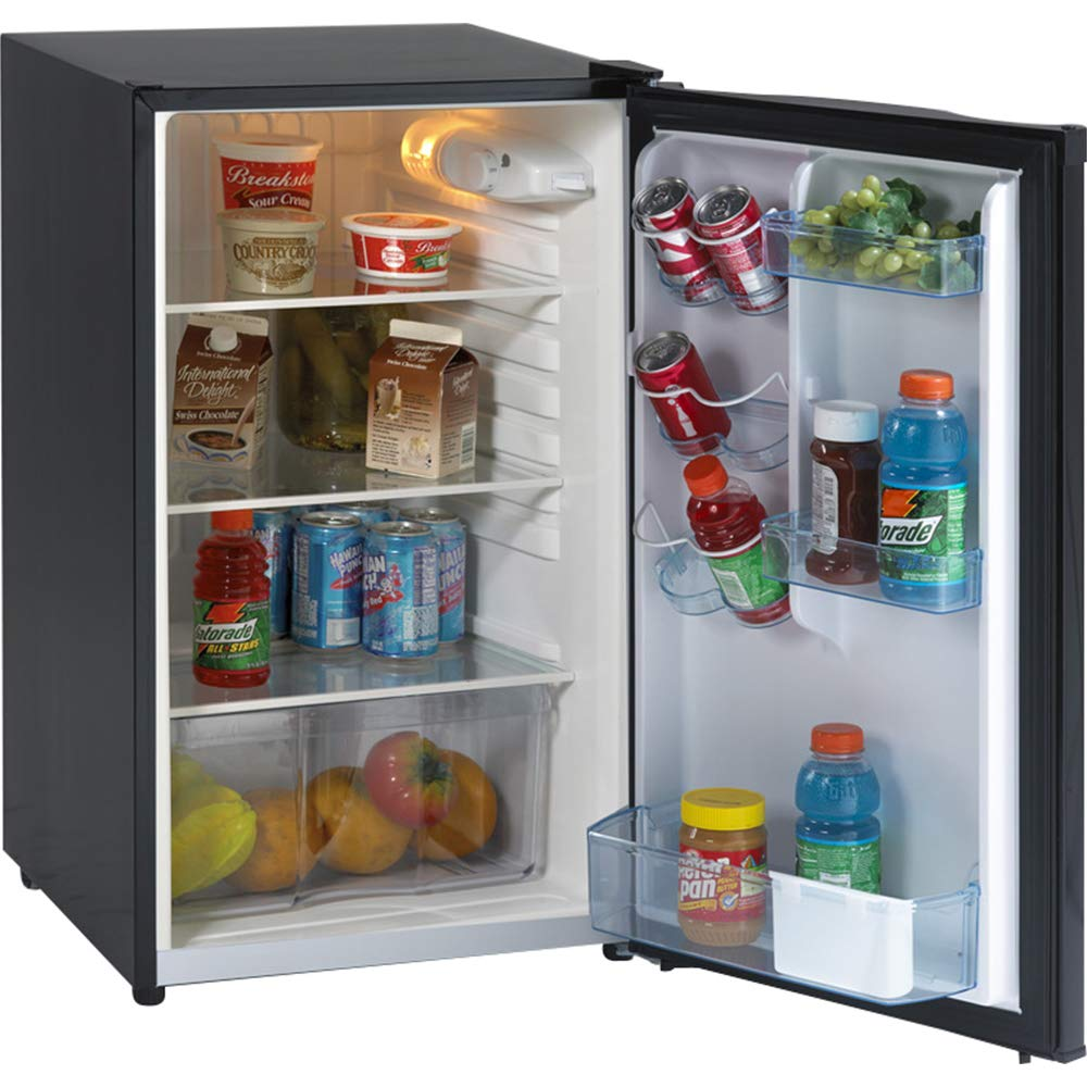 Avanti AVAAR4446B Refrigerator, Energy Star, Defrost, Glass Shelves, Compact, 4.4 cu. ft.