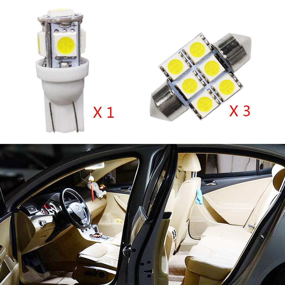 Cobear para ASX Super Brillante Fuente de luz LED Interior Lámpara de Coche Bombillas de Repuesto Blanco Paquete de 4: Amazon.es: Coche y moto