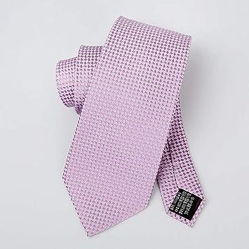 N·XHXL Corbata para Los Hombres, Rosa Púrpura Cuadrícula Boda ...
