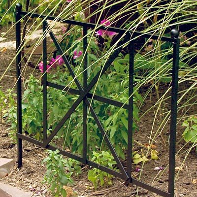 Panacea British Cross Border Fence, 19.5''H, Pack of 12 by BestNest
