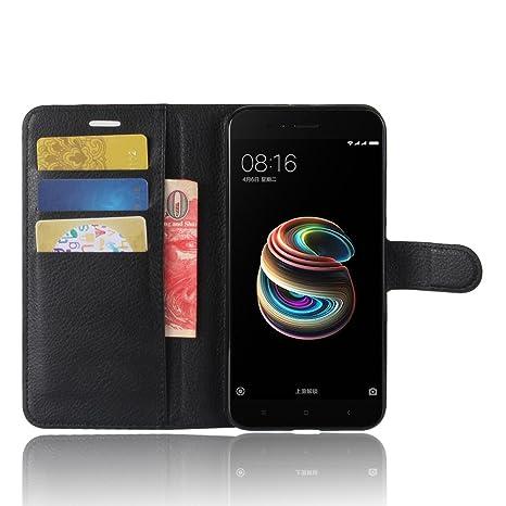 wholesale dealer 0359e ec11b SMTR Xiaomi Mi A1 Premium Leather Wallet case Cover Leather Wallet Flip  Cover with magnetic clasp for Xiaomi Mi A1 Smart Phone-Black