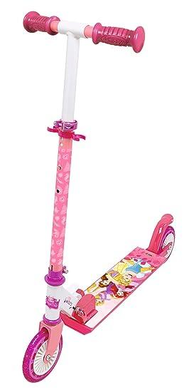 Smoby 750345 – Princesas Disney Princess Roller con Freno, Plegable