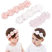 3 unidades de cinta de grogrén para niñas pequeñas, niñas y niños, turbante para la cabeza, joyas de bebé, flores…
