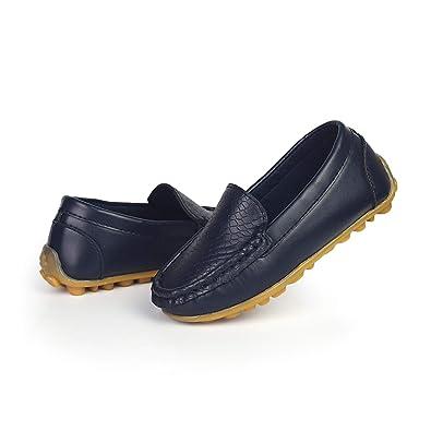 9ebb1ddf26b Benhero kids boys girls loafers slip on soft synthetic leather boat dress  shoes flat jpg 395x395