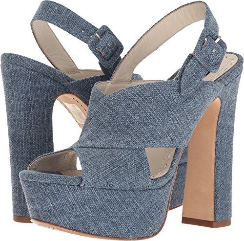 alice + olivia Women's Larissa Blue Denim Sandal