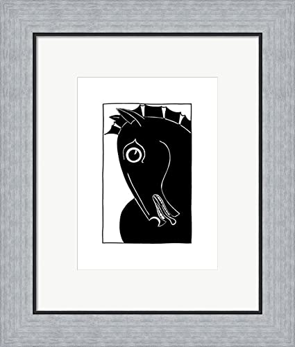 Amazon.com: Chevaux d\' Homme II by Strammel Framed Art Print Wall ...