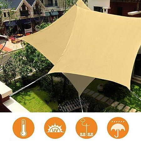 WISKEO Toldo Vela de Sombra Rectangular 2.5x4m, protección Rayos UV Impermeable para Patio, Exteriores, Jardín - Beige 2.5x4m: Amazon.es: Hogar