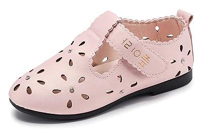 b6397fc820c7 Little Girls Ballet Flats Princess Shoes Flower Girl Dress Shoes School  Uniform Mary Jane Shoe Pink