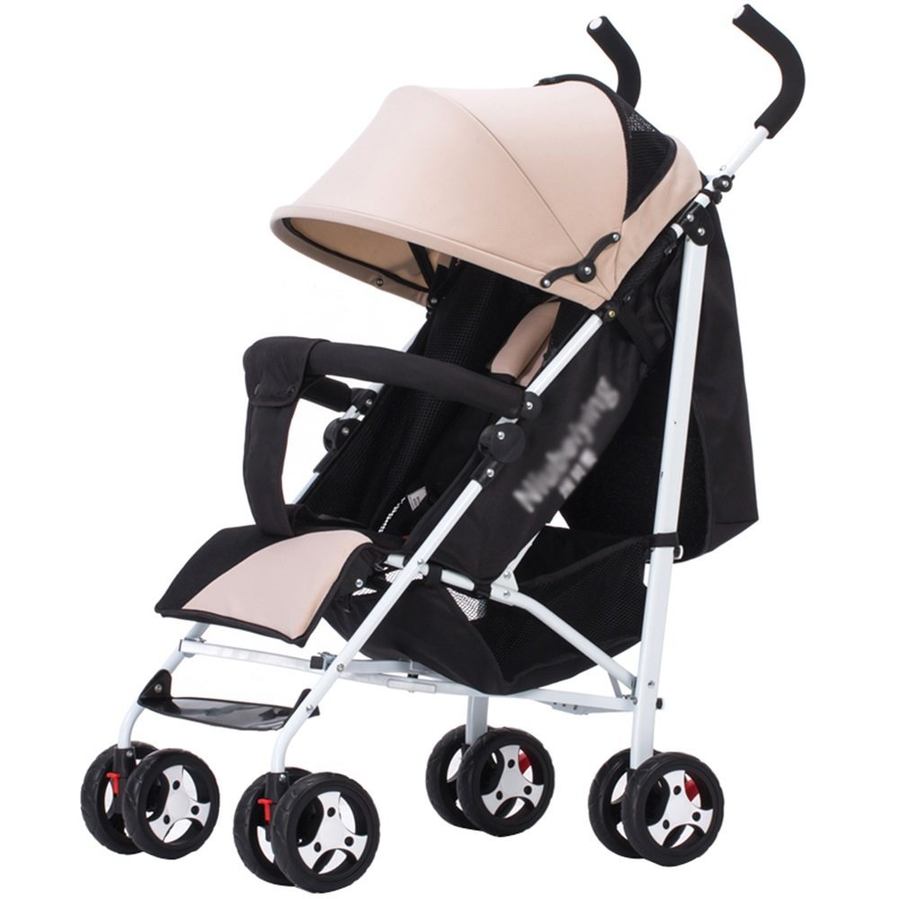 Amazon.com : Baby Stroller Foldable Simple Umbrella car (4 Colors are Optional) (Color : Black) : Baby