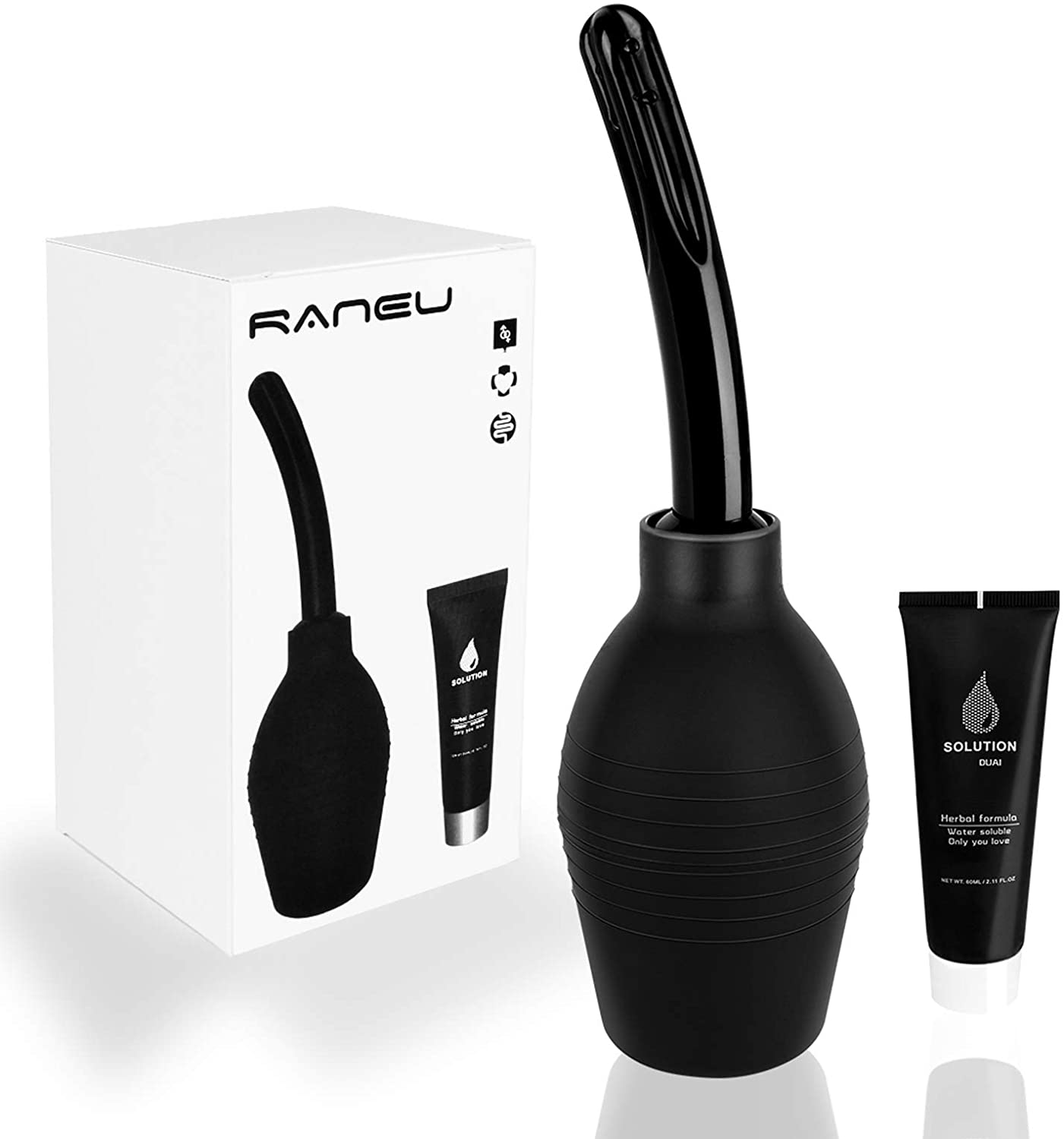RANEU Enema Bulb Kit with Lube, Anal Douche Superior Materials Douche for Men Women Made of Comfortable Silicone: Health & Personal Care
