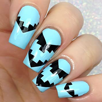 Twinkled T Aztec Tribal Zig Zag Nail Vinyls Guides Stencils