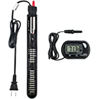Zacro AH278 Aquarium Heater of 300W with Visible Temperature and Floating Thermometer with Suction Cup