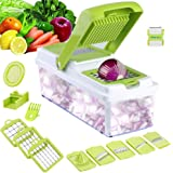 Mandoline 11 in 1 Food Cutter, Kitchen Vegetable Chopper Tomato Potato Cheese Sliver Grater Shredder Fruit Julienne Onion Slicing Dicing Grating Chopping Cutting Peeling