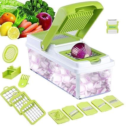 Godmorn réglable Coupe-Légumes multi-fonction Food Trancheuse Mandoline Trancheuse