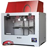 BIBO 3D Drucker Metal Frame Dual Extruder Laser Engraving WIFI Touch Screen Cut Printing Time In Half Filament Detect Demountable Glass Bed