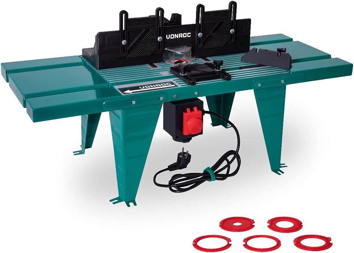 VONROC VONROC Mesa para fresadora - Universal - Para fresadoras con placa base de hasta Ø155mm y hasta 1800W de potencia