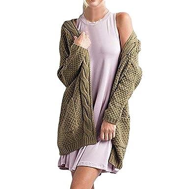 ZORE De Punto de la Mujer de Manga Larga Abierta Chaqueta de Punto Delantero suéteres Abrigos