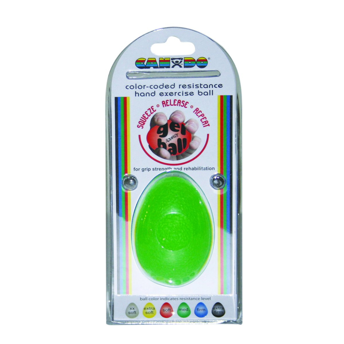 Amazon.com: CanDo 10-1896 Gel Squeeze Ball, Large Cylindrical, 6 ...