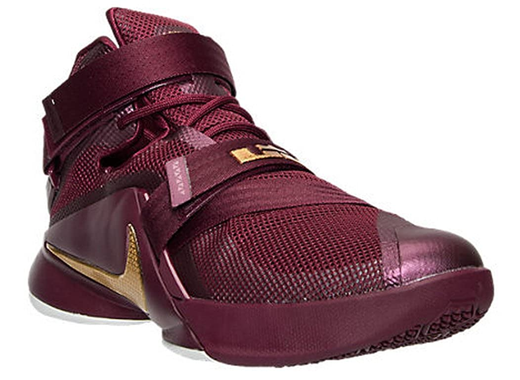 sale retailer 84be1 06a6c Nike Mens Lebron Soldier IX Basketball Shoe (12 D(M) US, Deep  Garnet/Metallic Gold)