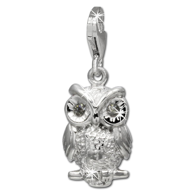 Armband anhänger  SilberDream Charm Eule mit weißen Zirkonias 925 Sterling Silber ...