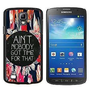 TECHCASE---Cubierta de la caja de protección para la piel dura ** Samsung Galaxy S4 Active i9295 ** --Life Time Momento Live Every motivación de la cita