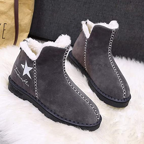 fd655410e7677 Amazon.com: Women Snow Warmer Platform Boots, NDGDA Winter Star Logo Plus  Velvet Hot Shoes: Clothing
