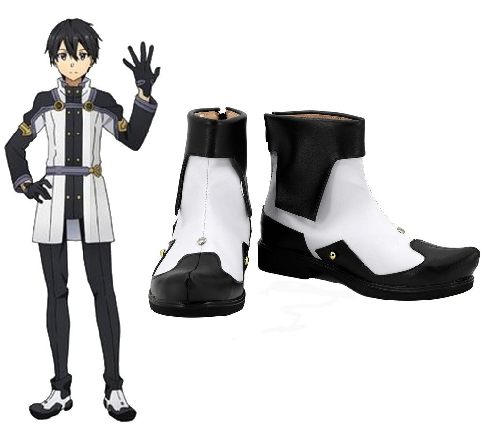 Sword Art Online Ordinal Scale Kirigaya Kazuto Kirito Cosplay Shoes Boots Custom Made 9 B(M) US Female