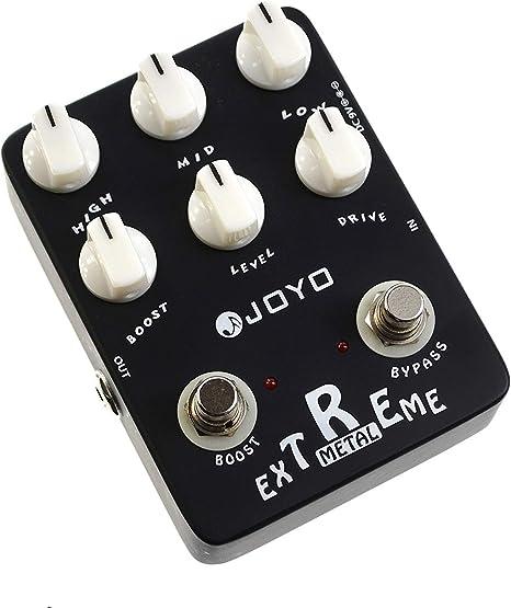 Joyo JF-17 - Pedal multiefecto para guitarra (metal, batería zinc ...