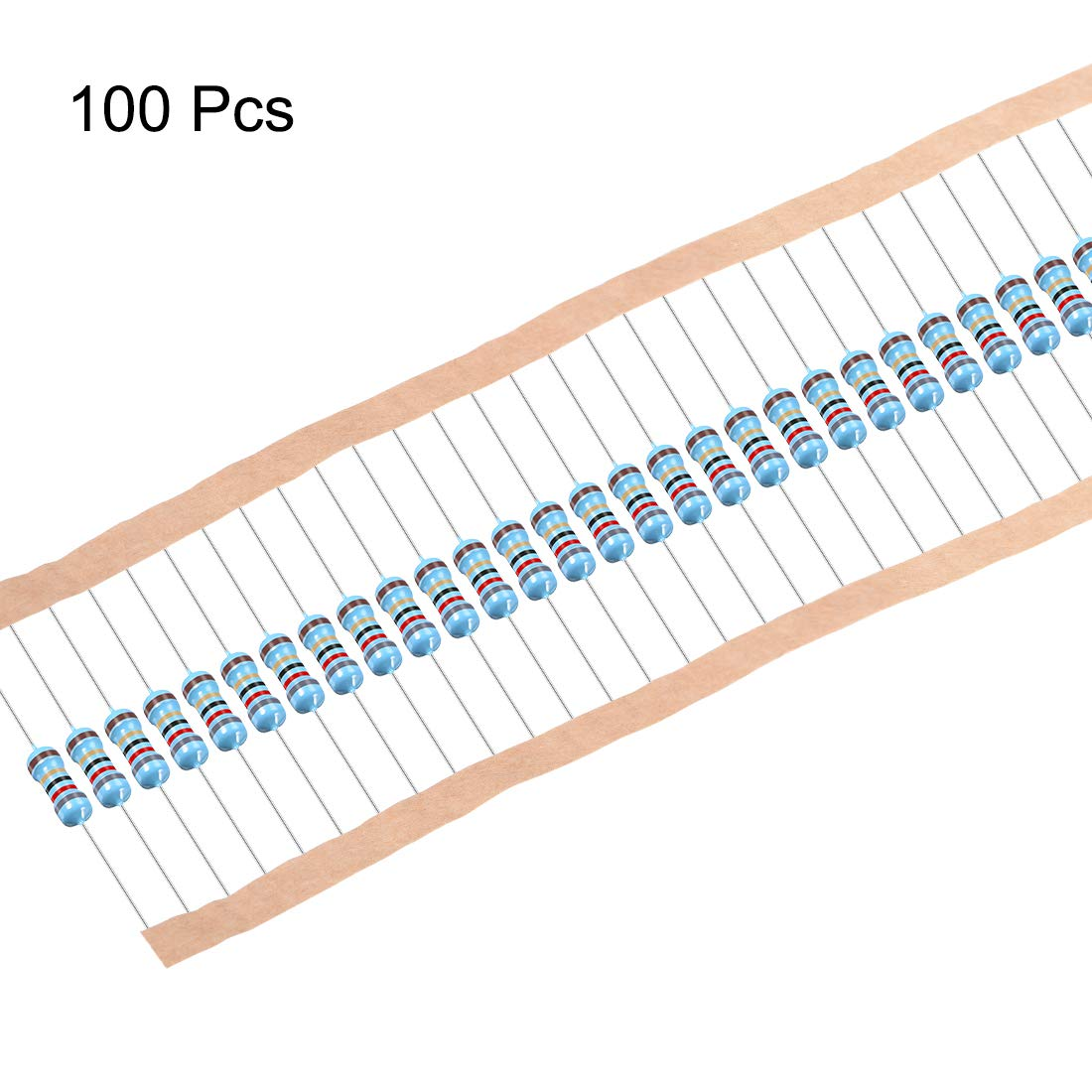 uxcell 100Pcs 75 Ohm Resistor Axial Lead 5 Bands for DIY Electronic Projects and Experiments 1//2W 1/% Tolerance Metal Film Resistors