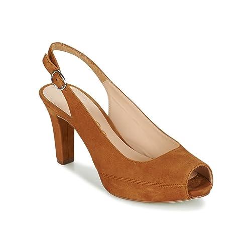 Details zu Unisa Peeptoe Schuhe, Pumps, Sandaletten, Absatzschuhe Gr. 38 Leder !!!