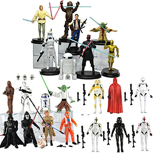 9Pcs Darth Vader Kylo Ren Stormtrooper Yoda R2D2 BB8 Toys Action Figure Set