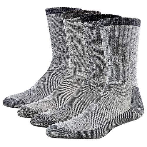 RTZAT Men's Skiing Socks, Premium Merino Wool Full Cushion Cozy Thermal Outdoor Athletic Crew Length Socks Christmas Gift Ideas for Men, 1 Pair Medium Navy Blue -