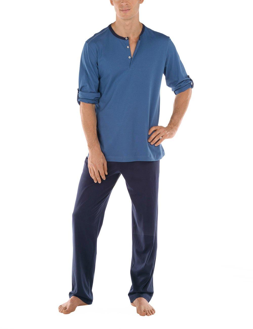 Calida mens cotton knit pajamas set Dakar 49168 (397, XX-large)