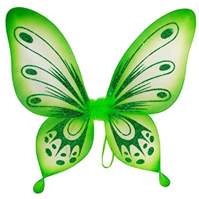 Green Sparkling Fairy Princess Wings: Toys & Games