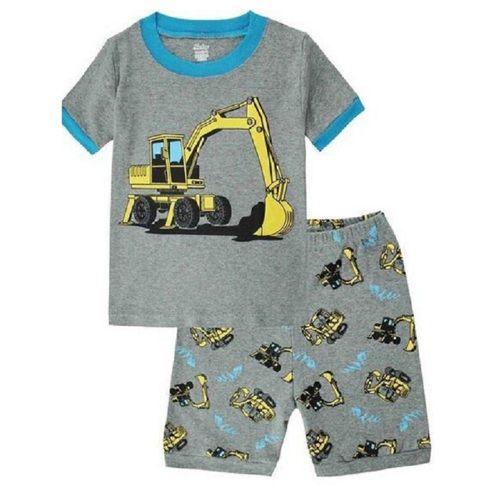 Hooyi Baby Boy Truck Sleepwear Cotton Short Pajamas Set