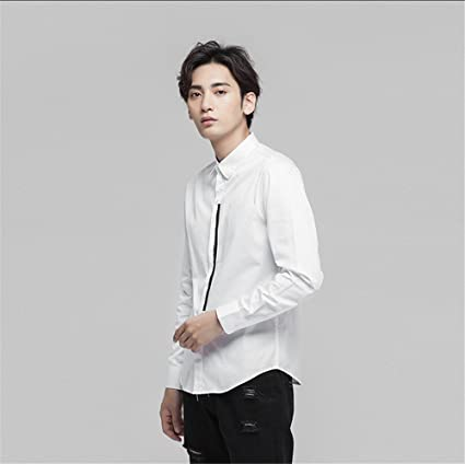f52655e31a5fe Moda Casual Hombre Camisa de Manga Larga