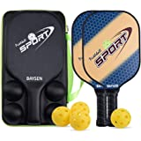 Pickleball Paddles - 2 Pickleball Paddles with 4 Balls & Carrying Bag Set Graphite Pickleball Rackets
