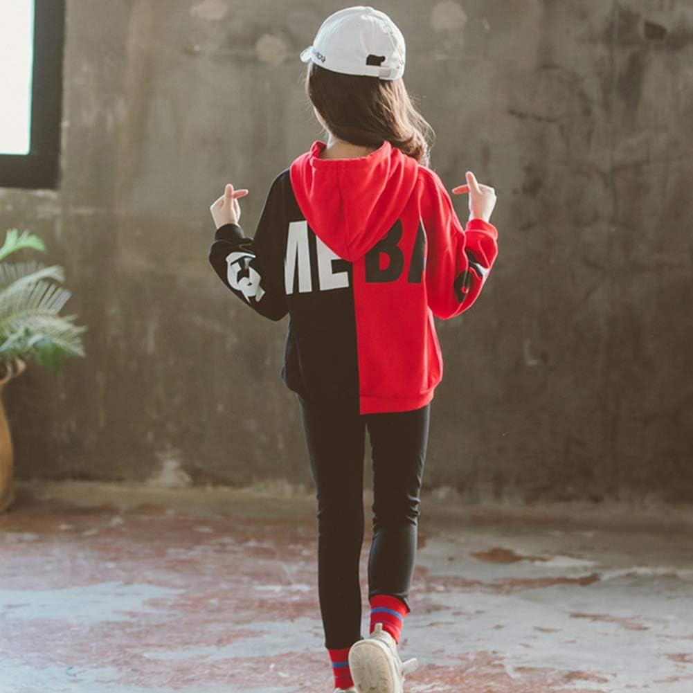 LSHEL M/ädchen Jogginganzug Jogging Hose Jacke Kapuzenpulli Sportanzug Sporthose Fitness Hoodie