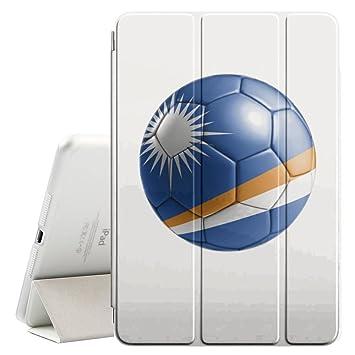STPlus Bandera y balón marshalleses del equipo de fútbol de Islas ...