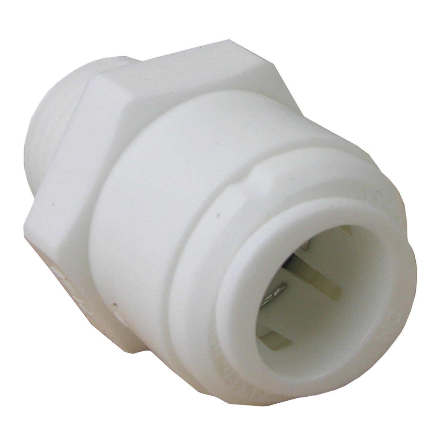 Plastic LASCO 19-6021 Male Pipe Thread Adapter Push-In Fitting with 1//2-Inch OD Tube and 3//8-Inch Male Pipe Thread